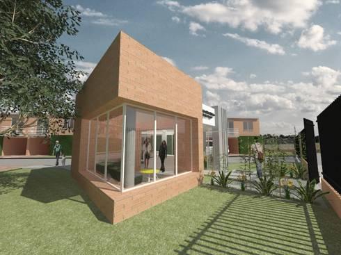 PORTERIA - CONDOMINIO CLUB EL MELAO, CALI: Casas de estilo moderno por MODOS Arquitectura
