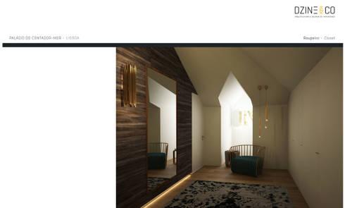 Palácio do Contador Mor : Closets modernos por DZINE & CO, Arquitectura e Design de Interiores