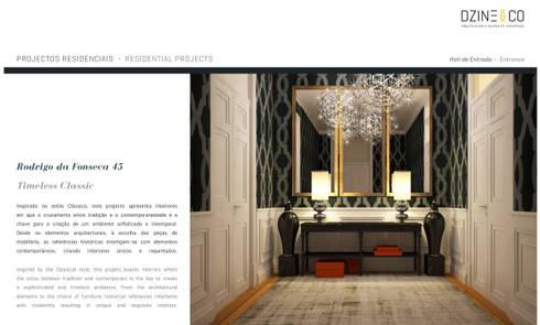Timeless Interiors: Corredores e halls de entrada  por DZINE & CO, Arquitectura e Design de Interiores