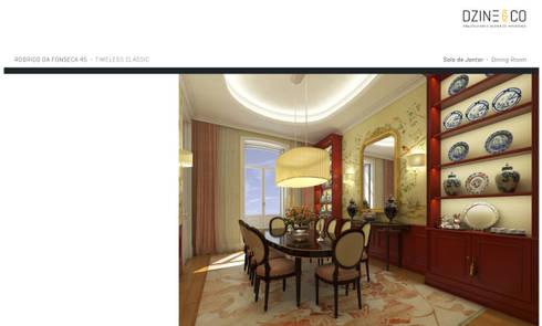 Timeless Interiors: Salas de jantar clássicas por DZINE & CO, Arquitectura e Design de Interiores