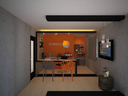 Oficina interior: Oficinas y tiendas de estilo  por Constructora Asvial S.A de C.V.