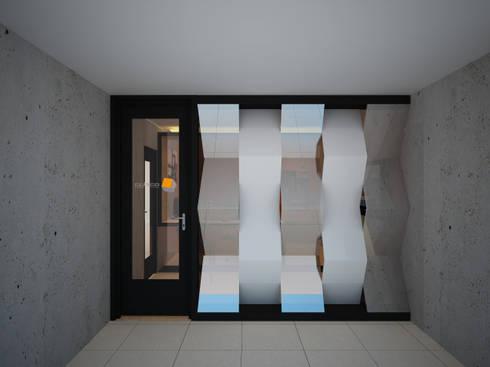 Exterior de oficina: Oficinas y tiendas de estilo  por Constructora Asvial S.A de C.V.