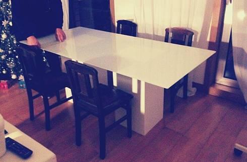 - Base para mesa de jantar  : Sala de jantar  por Pode Ser!