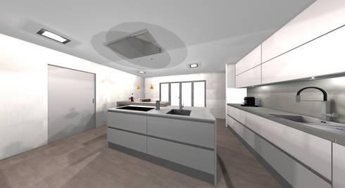 ILHA: Cozinha  por area design interiores