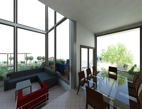 Diseño de vivienda unifamiliar Timotes- Mérida-Venezuela : Comedores de estilo moderno por Diseño Store