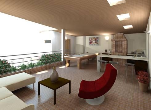 Diseño de área recreacional: Salas / recibidores de estilo moderno por Diseño Store