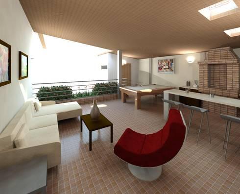 Diseño de área recreacional: Terrazas de estilo  por Diseño Store