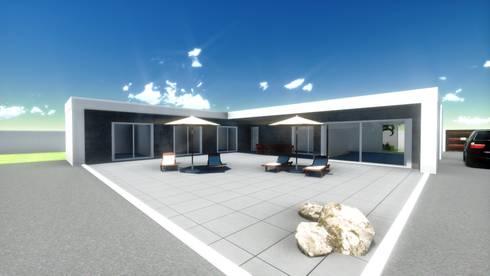 Projeto vivenda chave na mão , tipologia T 3 luanda:   por Gabinete de arquitetura 3D