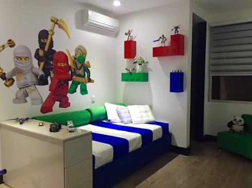 Habitación Lego : Habitaciones infantiles de estilo  por ea interiorismo