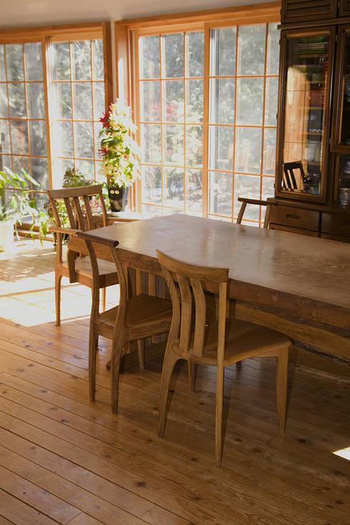 T氏邸ダイニングテーブル: 木工房ばおばぶが手掛けたキッチンです。
