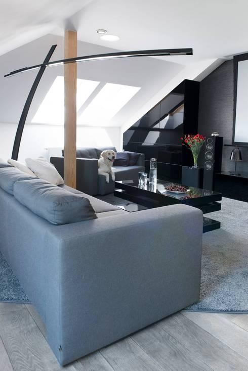 Медиа комнаты в . Автор – MINIMOO Architektura Wnętrz