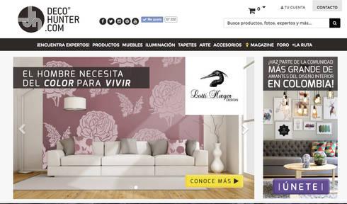 Decohunter.com: Salas de estilo ecléctico por Decohunter.com