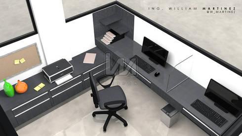 Oficina Hotel Hippocampus Vacation Village: Oficinas y Tiendas de estilo  por Ing. William Martinez