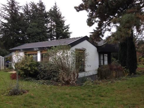 Schrägansicht Gartenseite vorher:   von ZHAC / Zweering Helmus Architektur+Consulting
