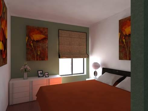 Remodelação de Apartamento em Almada: Quartos modernos por Projectos Arquitectura & 3D