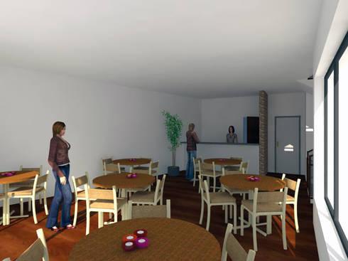 Residência para Estudantes: Escritórios e Espaços de trabalho  por Projectos Arquitectura & 3D