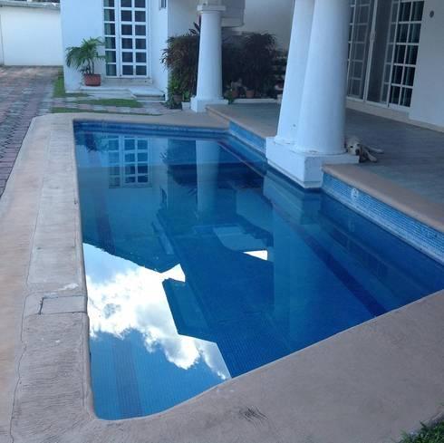 piscinas: Jardines de estilo clásico por Doctor Pool Mx