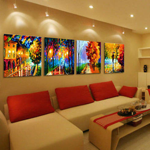 KINFE PAINTINGS FOR INTERIOR DECORATION:  Artwork by SHEEVIA  INTERIOR CONCEPTS