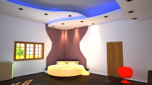 Single floor Villa Design -Low budget:   by SHEEVIA  INTERIOR CONCEPTS