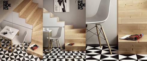 Recuperação do Antigo Colégio de Aldeia da ponte: Salas de jantar minimalistas por David Bilo | Arquitecto