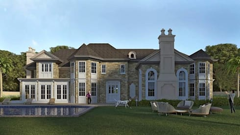 Villa ( Brookville City, New York ): colonial Houses by Ellipse design studio
