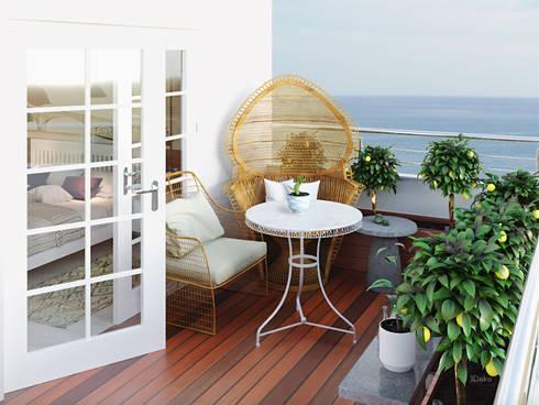 Terraza - Terrace: Jardines de estilo clásico por 3Deko