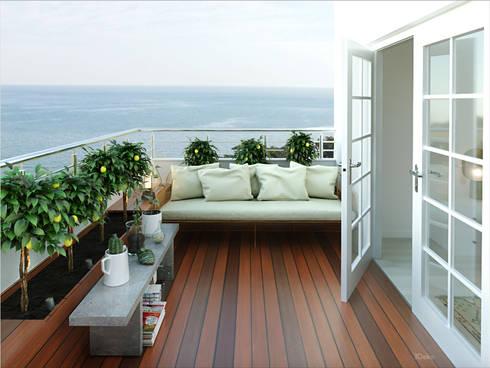Terraza: Jardines de estilo clásico por 3Deko