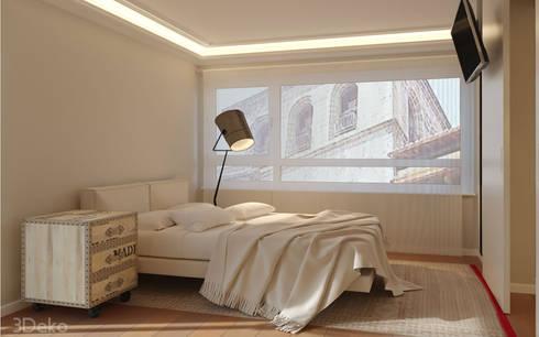 Habitación en 3D: Recámaras de estilo moderno por 3Deko