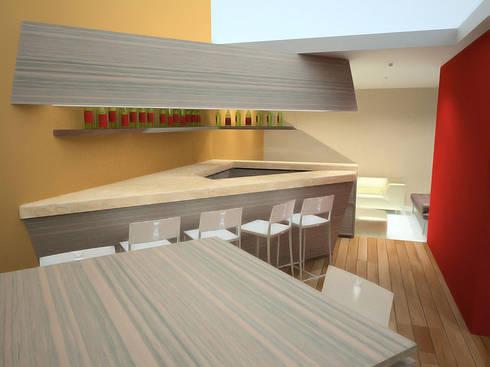 Casa Luju : Comedores de estilo moderno por DIN Interiorismo