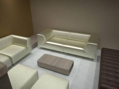 Casa Luju : Salas de estilo moderno por DIN Interiorismo