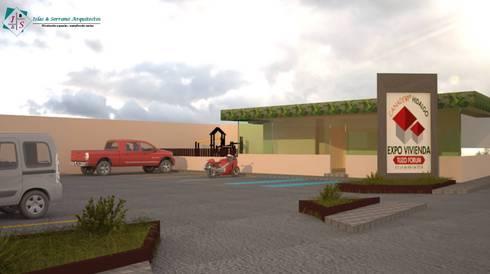 Showroom CANADEVI Zona Plateada: Oficinas y tiendas de estilo  por ISLAS & SERRANO ARQUITECTOS
