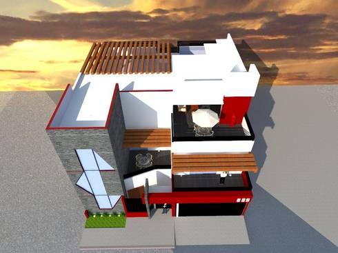 VISTA AÉREA: Casas de estilo moderno por ROJAS Arquitectura Diferente