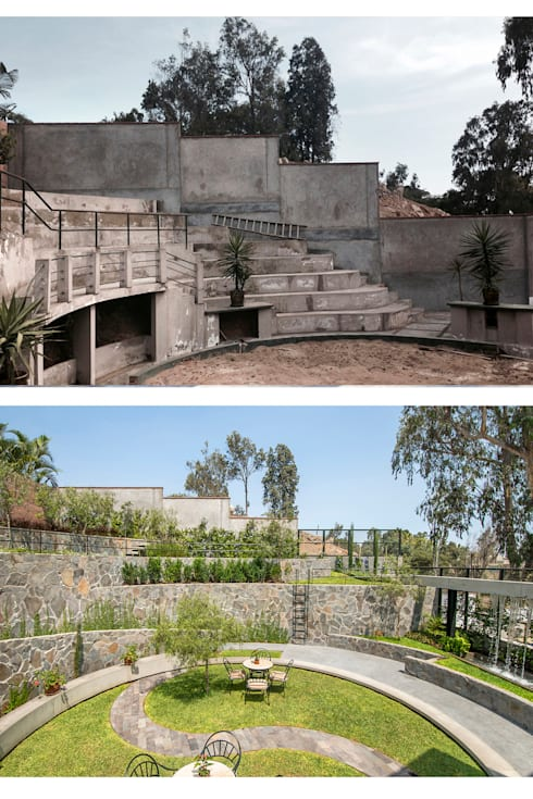 JARDIN COLISEO DE GALLOS:  de estilo  por NIKOLAS BRICEÑO arquitecto