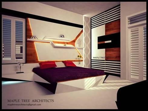 Mr.Ajith Residence: modern Bedroom by MAPLE TREE
