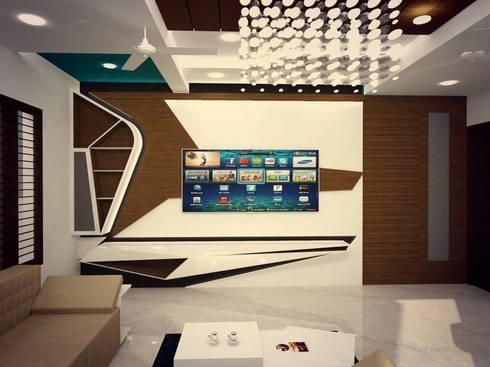 TV UNIT: modern Living room by MAPLE TREE