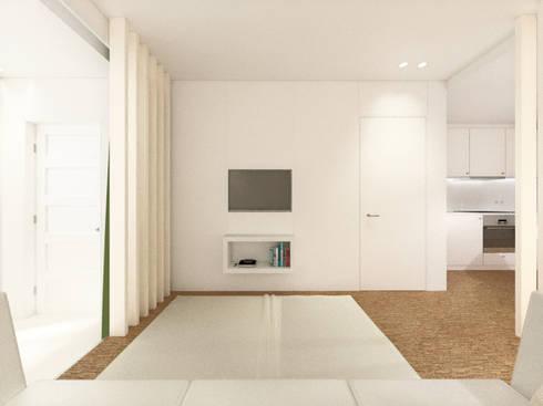 Sala de estar: Salas de estar modernas por Arq. Duarte Carvalho