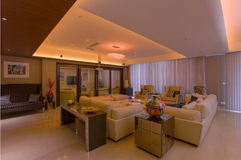 Magnolias Apartment: modern Living room by eSpaces Architects