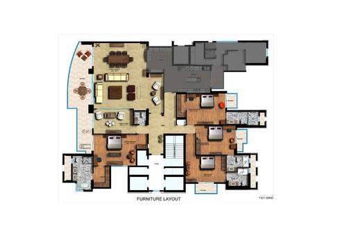 Magnolias Apartment:   by eSpaces Architects