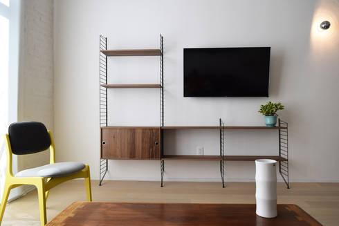 Donceles 17: Salas multimedia de estilo moderno por Germán Velasco Arquitectos