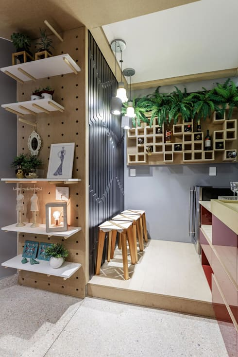 Cave à vin de style  par Caio Prates Arquitetura e Design