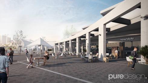 Plaza pesquería: Casas de estilo moderno por Pure Design