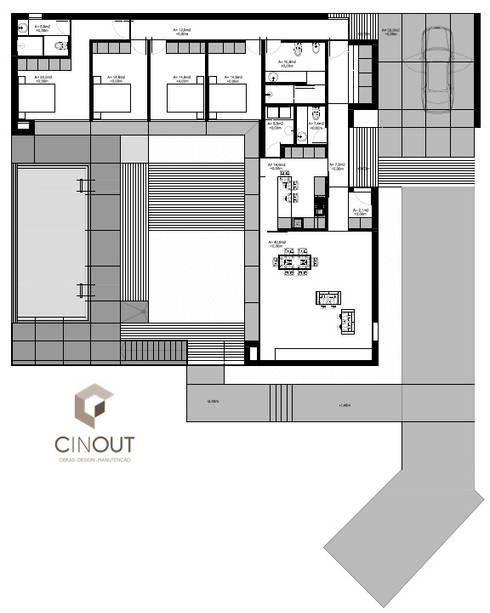 Moradia em Construção: Casas modernas por CINOUT - Obras, Design e Manutenção Lda.