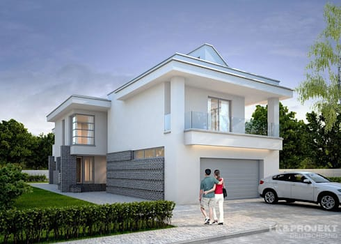 designerhaus f r schmale grundst cke von lk projekt gmbh homify. Black Bedroom Furniture Sets. Home Design Ideas