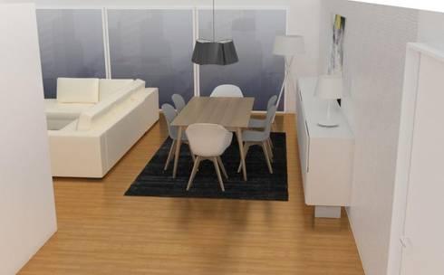 Projecto Sala de Estar: Salas de estar escandinavas por AnaPacheco - BoConcept Interior Designer