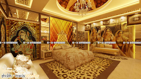 MASTER BED ROOM : classic Bedroom by Shubh Mania Interior