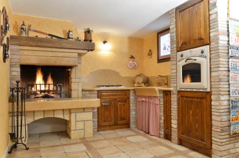 Nostre realizzazioni cucine in muratura taverne di salm caminetti homify - Cucina muratura rustica ...