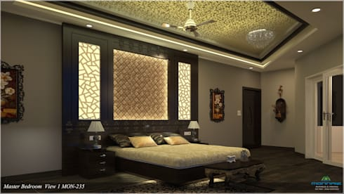 Modish Modern Contemporary… : modern Bedroom by Premdas Krishna
