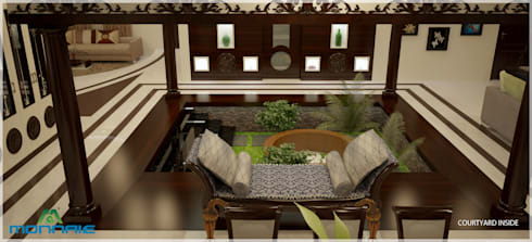 Magic in interiors with Indian contemporary design: modern Living room by Premdas Krishna