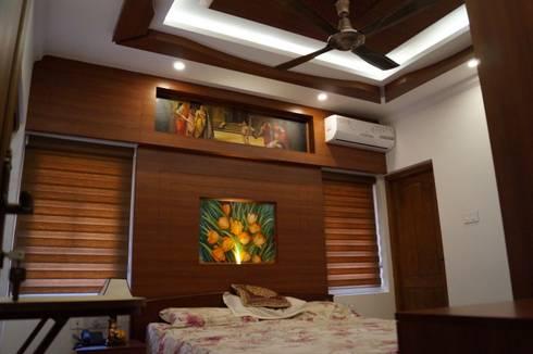 Stunning Contemporary Interior Design Works: modern Bedroom by Premdas Krishna