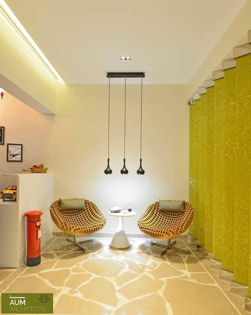 Duplex Apartment design:  Terrace by Aum Architects